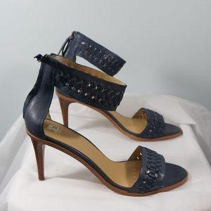 Joe's Jeans Navy Blue Heeled Sandal Size 9.5